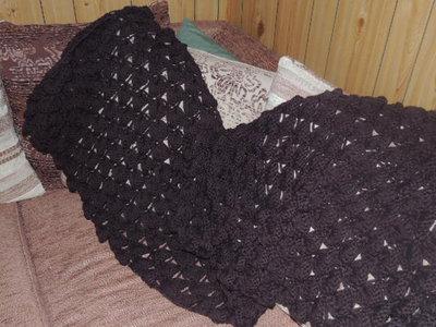 Sciarpa nera di lana