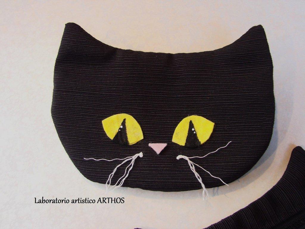 Bustina astuccio porta tutto trucchi gatto musetto in for Tutto in regalo