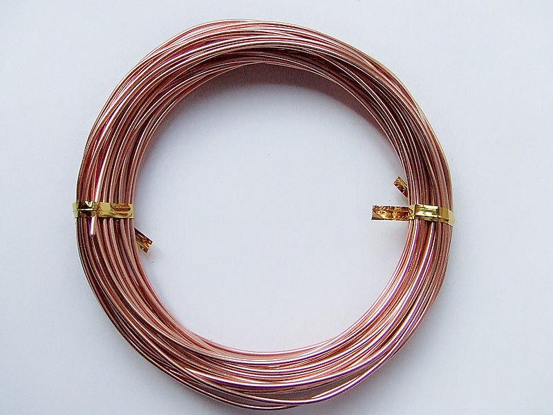 5mt di filo in alluminio 1,5mm colore rame