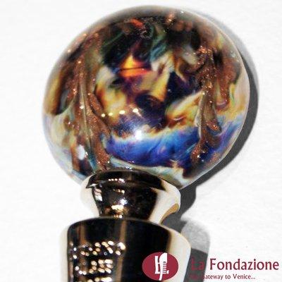 Tappo da bottiglia in vetro di Murano e Calcedonio