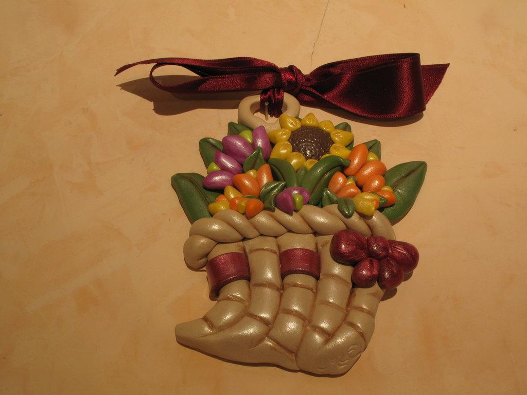 formella cornucopia tulipani girasole