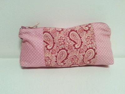 Astuccio patchwork rosa