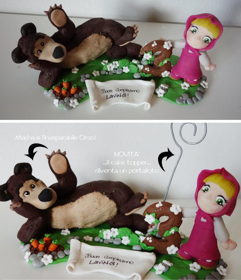 cake topper compleanno masha e orso