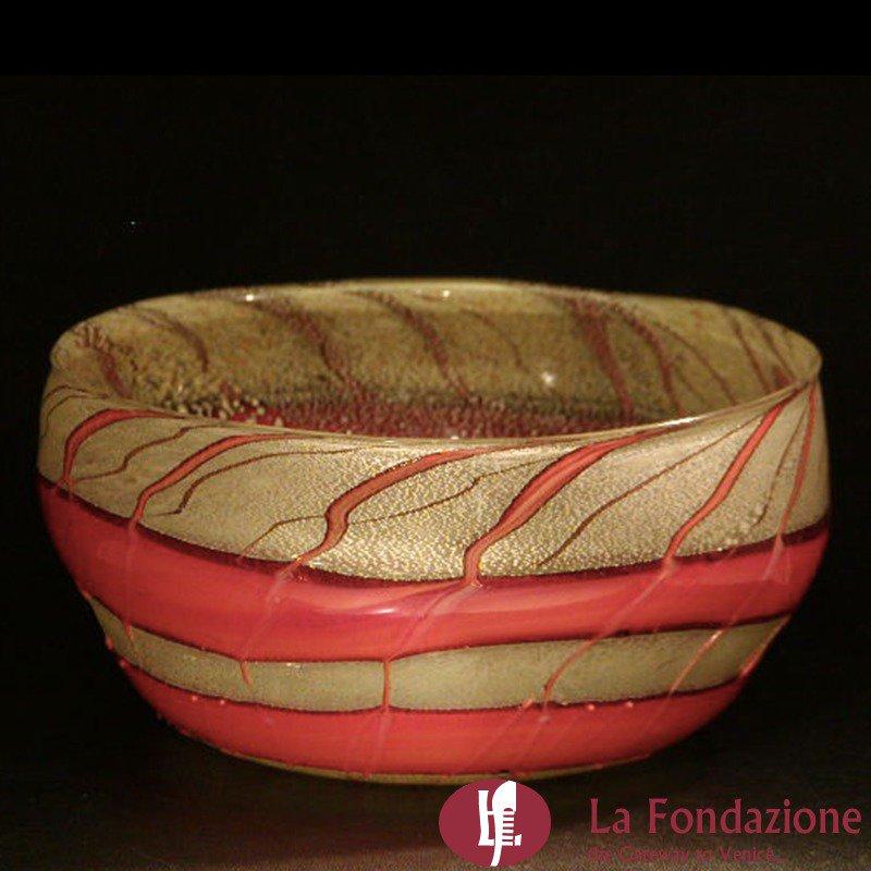 Bowl Lava - Svuotatasche in vetro di Murano