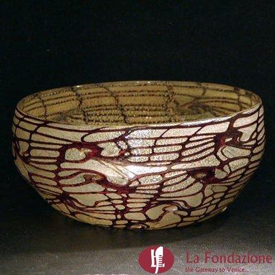 Bowl Reticolo - Svuotatasche in vetro di Murano