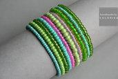 Perline spirale colorato braccialetto