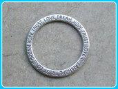 1 maxi connettore link cerchio con scritte