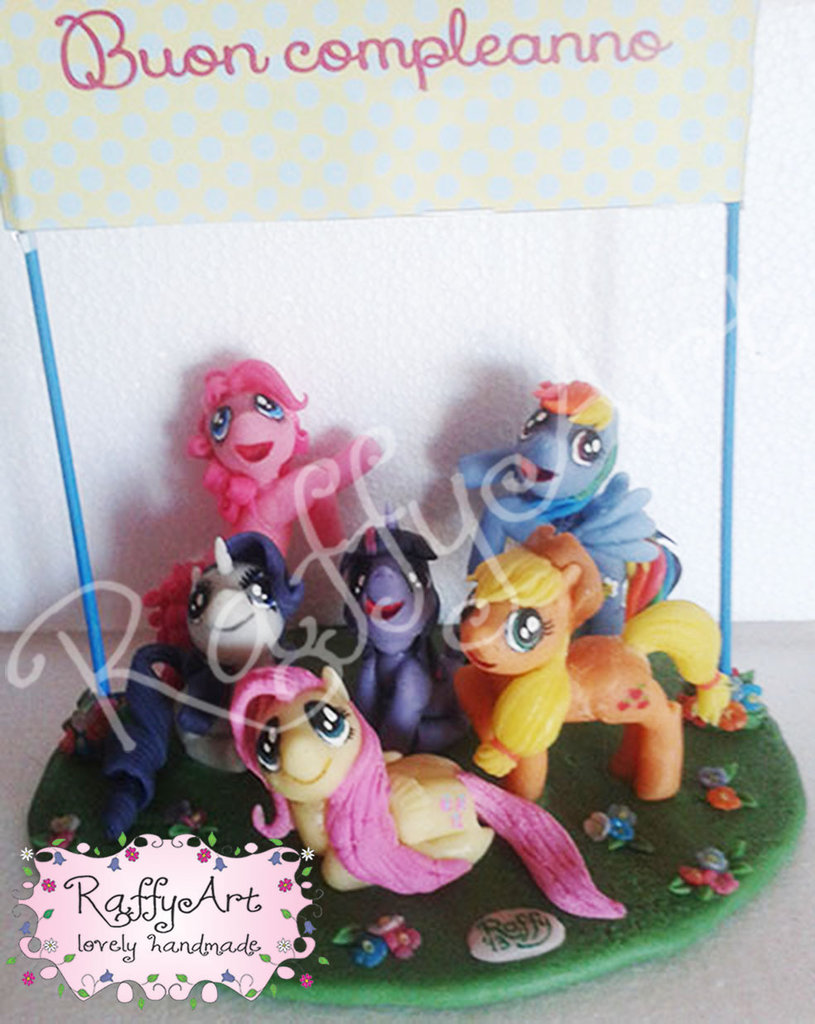 "Cake topper ""My Little Pony: festeggiamo insieme!"""