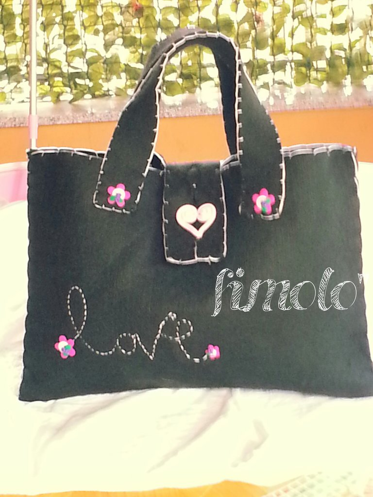 borsa in freltro e fimo love