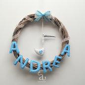 Ghirlanda nascita Andrea / personalizzabile