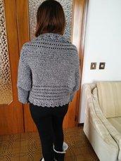 Giacca da donna di lana grigia