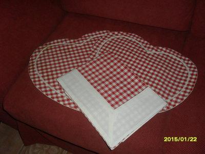 set cucina quadri rossi