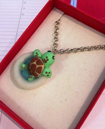 collana tartaruga in fimo