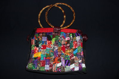 Borsa elegante in patchwork