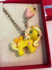 collana mini pony in fimo