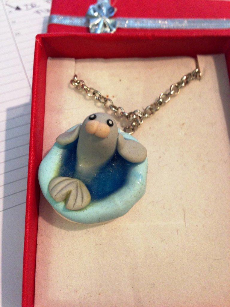 collana foca in fimo