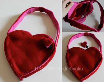 Borsetta cuore con spilla cuore