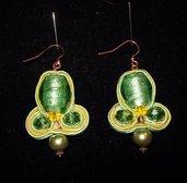 orecchini soutache verdi