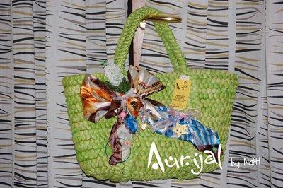 borsa mare creative in paglia intrecciata