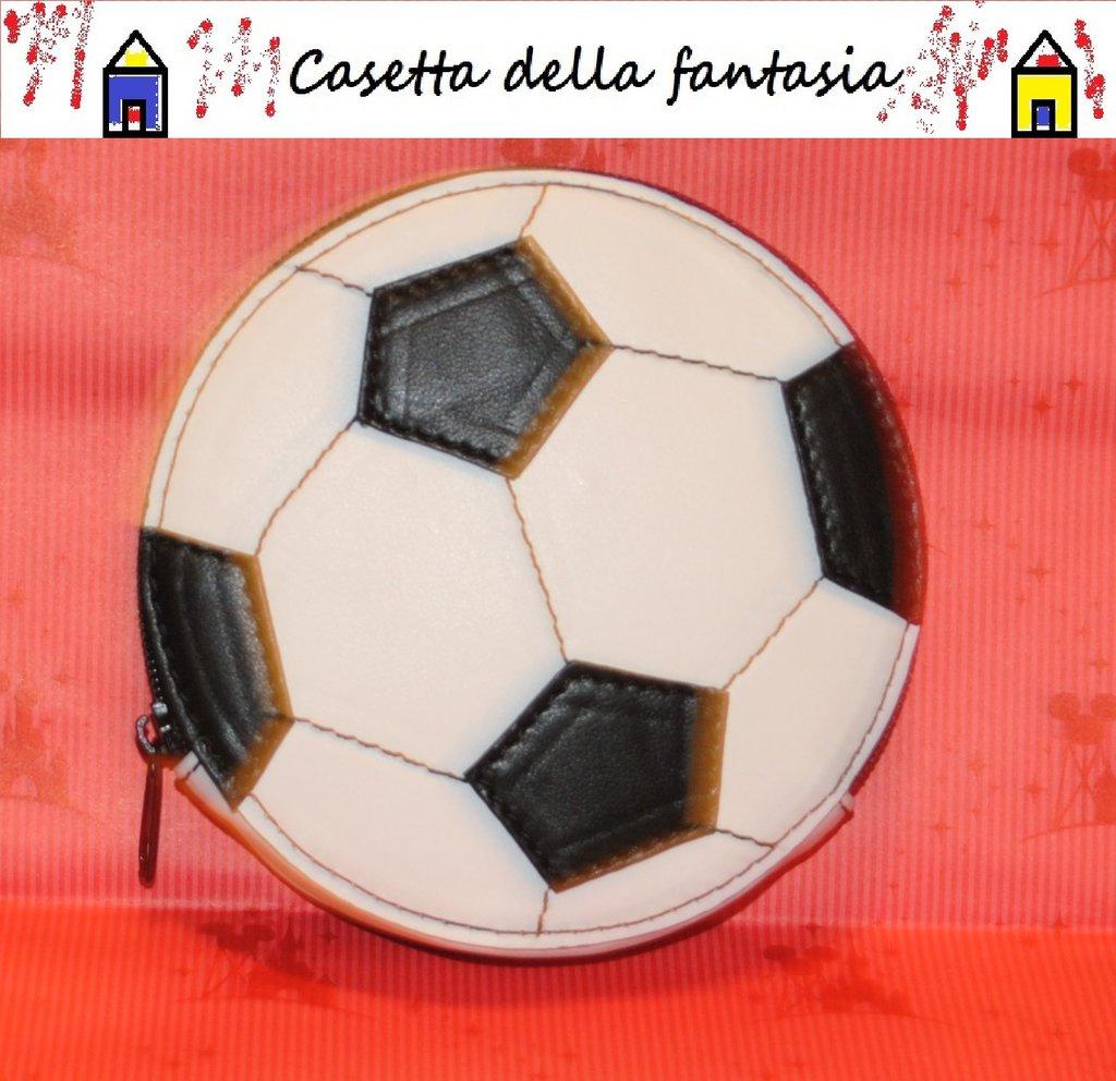 Borsellino pallone da calcio vera pelle