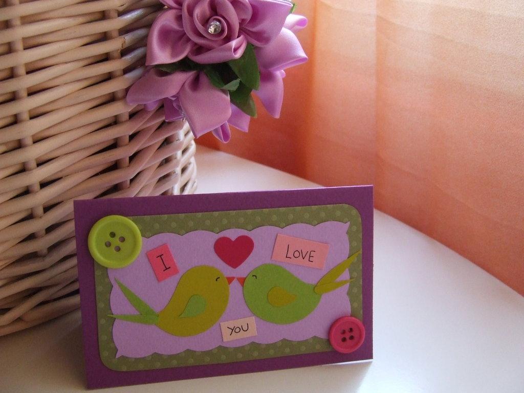 Biglietto di San Valentino- uccellini