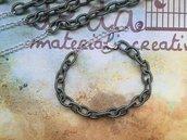 Base bracciale catena di seta verde