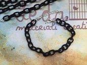 Base bracciale catena di seta nero