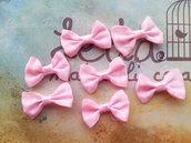 10 Fiocchetti rosa baby