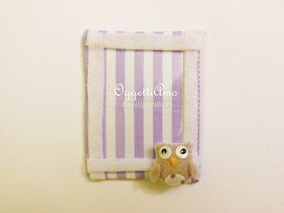 Calamita porta foto in stoffa con miniatura in feltro 'gufetto': bomboniere, cornici, idee regalo originali e colorate!