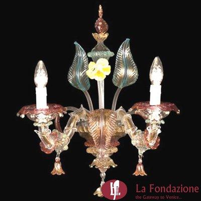 Vellutata - Applique in vetro di Murano