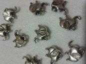 lotto 10 charm/ciondolo elefante
