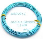 10 mt Filo in Alluminio celeste 1.5mm x tecnica wire