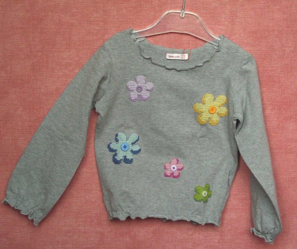 maglia bimba con fiori