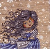 Winter breezy (on wood)-Original