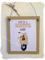 Targhetta in Legno : Idea regalo per amanti della Vespa