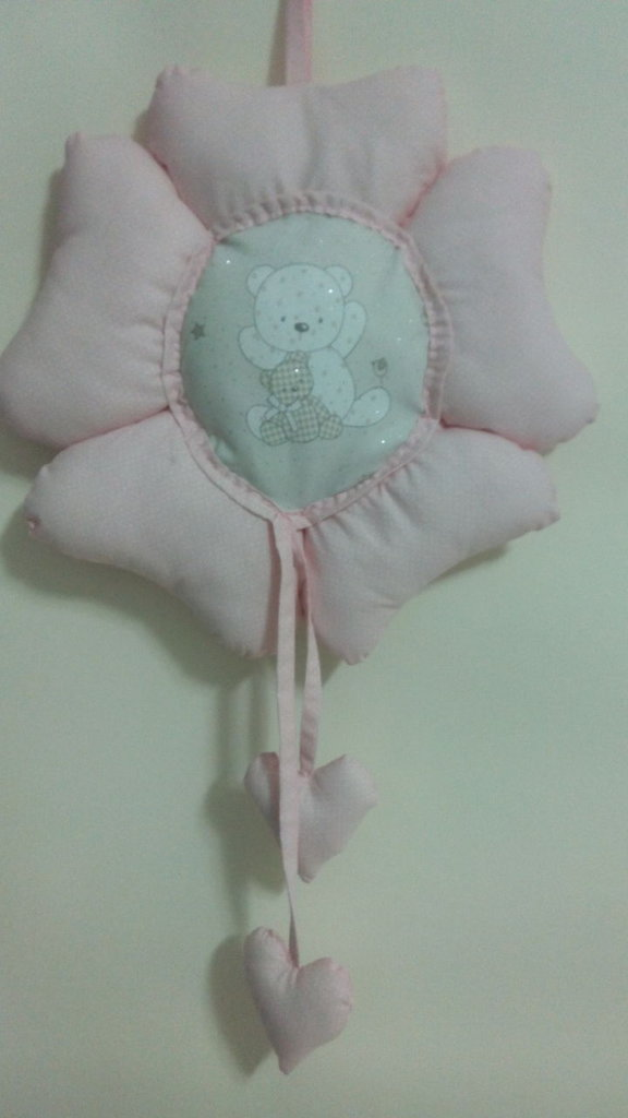 Fiocco nascita rosa con orsetto