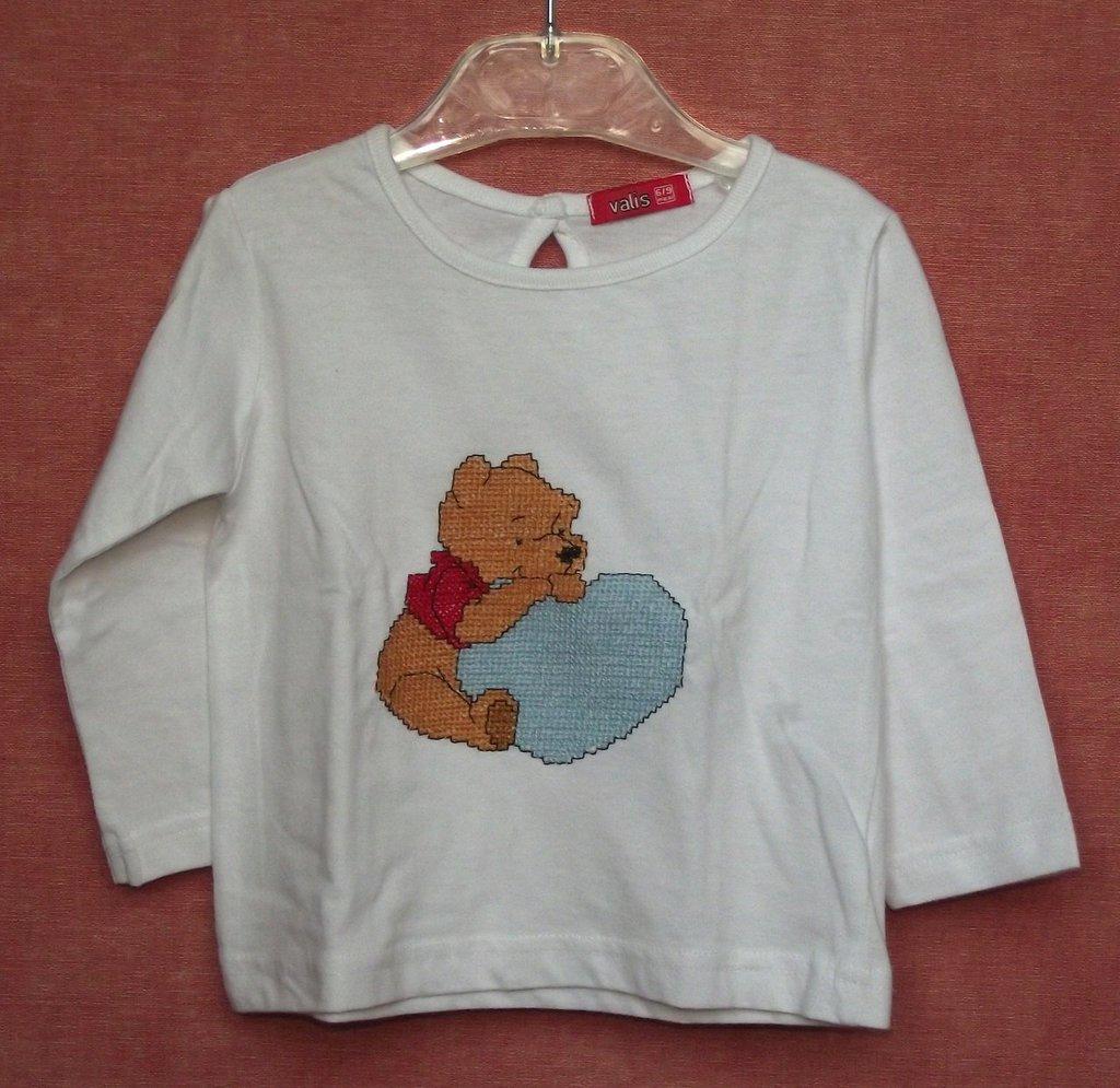 maglietta con winnie the pooh