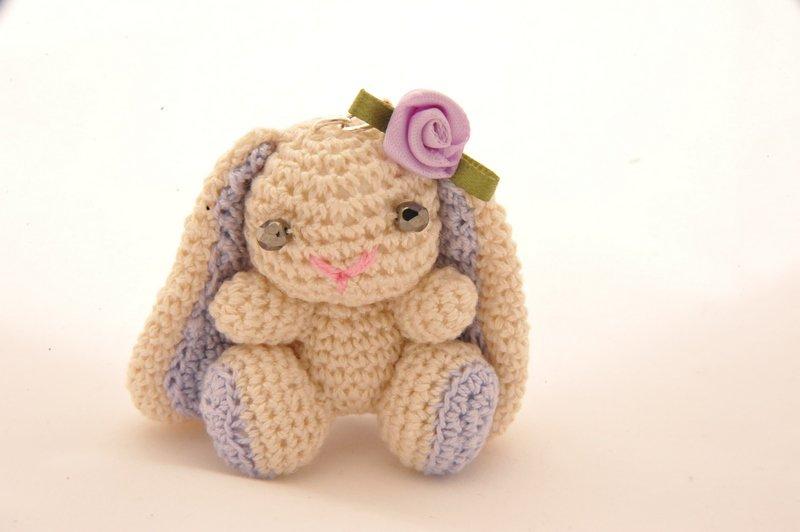 Portachiavi Coniglietto Amigurumi Con Scatolina Per La Casa E Per