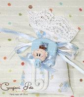 Bomboniera spilla da balia Bebé  con confetti