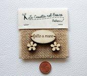 Set 3 bottoni in legno 'Fatto a mano'