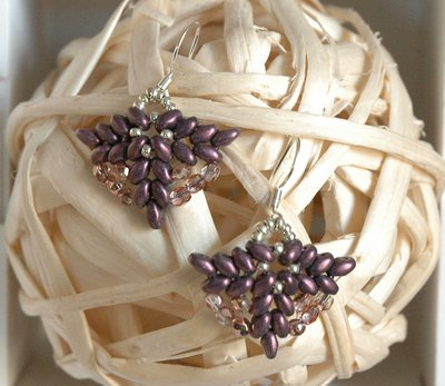 Mini Orecchini Elegance Purple Night