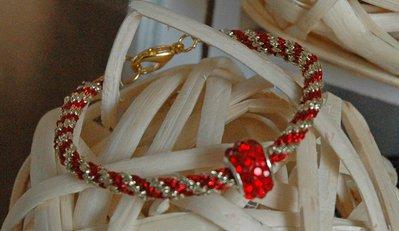 Bracciale Lussuria Oro&Rosso Lucido
