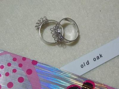 Anello a fascia con due file di anellini