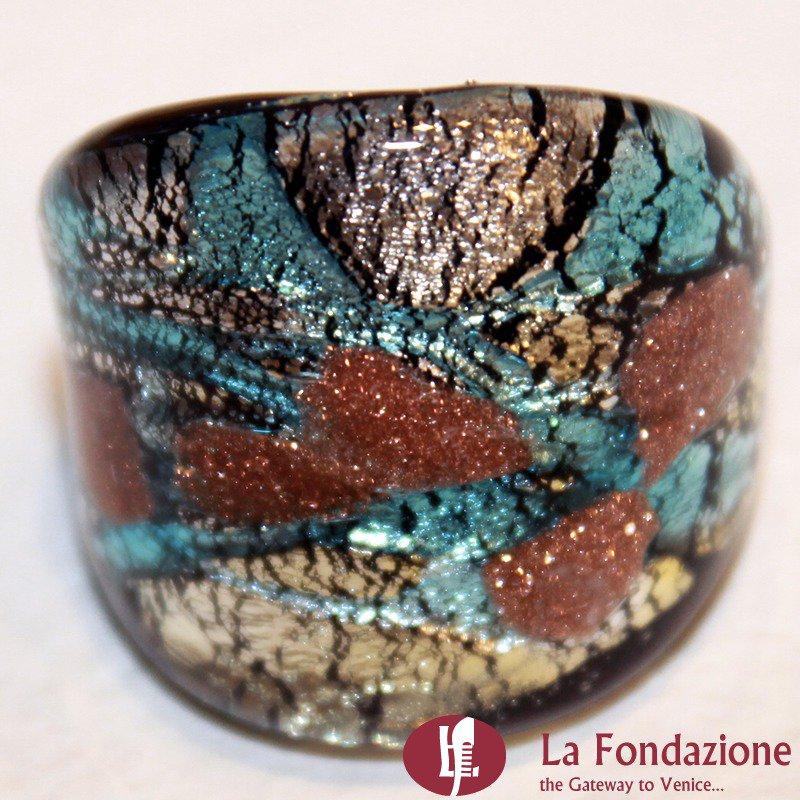 Fedina Fascia Turca - Anello in vetro di Murano
