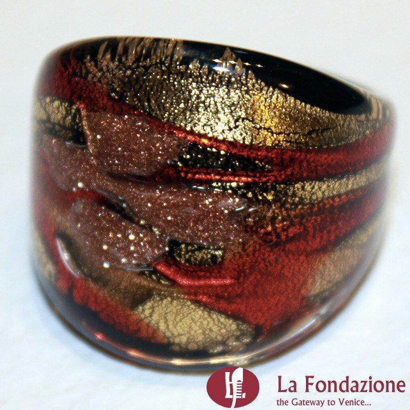 Fedina Fascia Roma - Anello in vetro di Murano