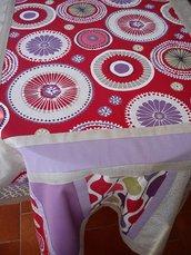 Tovaglia di lino patchwork