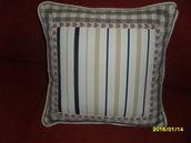 cuscini  cotone a righe e quadri