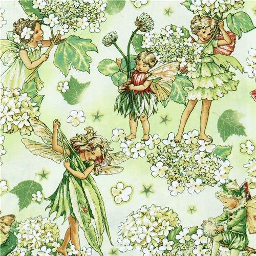 """Tessuto """"Morning Fairy Garden"""