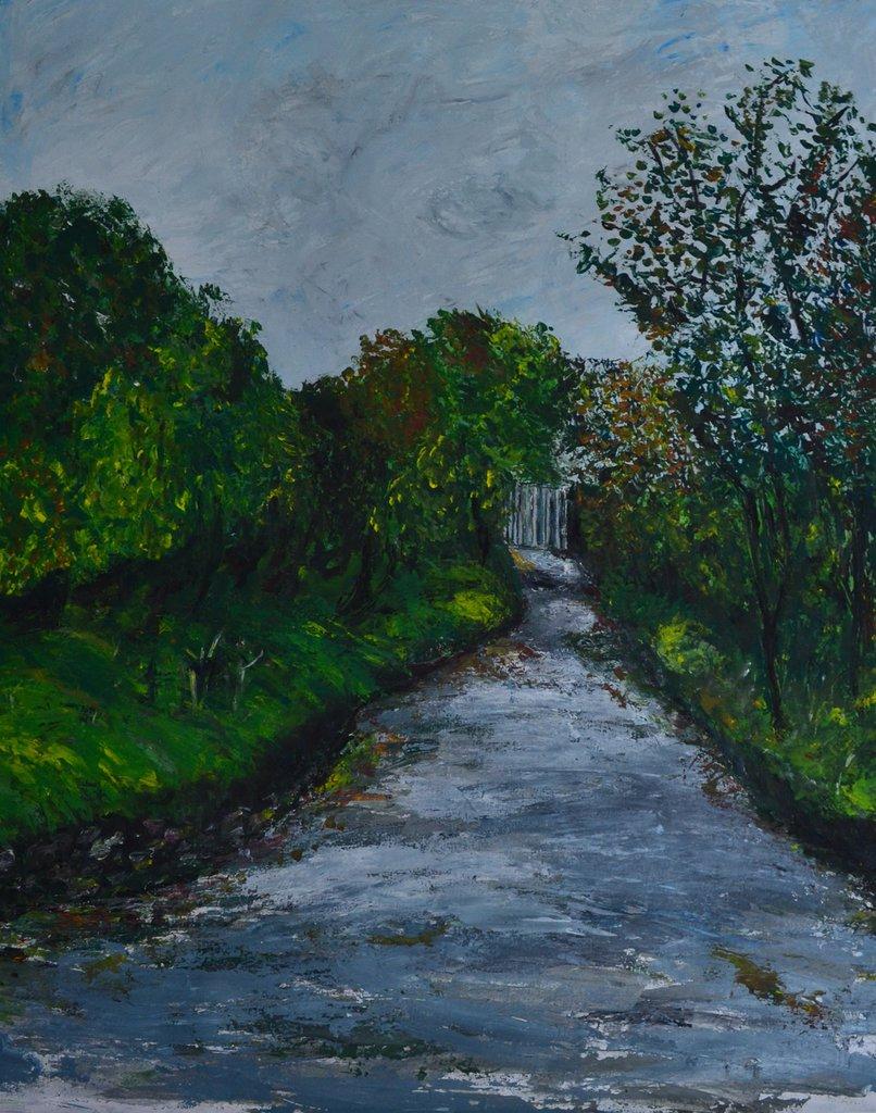 """""""Il cancello"""" - Dipinto a mano"""