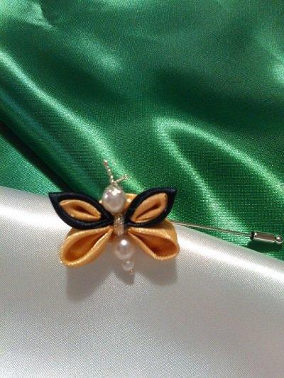 Spilla farfalla Kanzashi in raso, collezione 2015